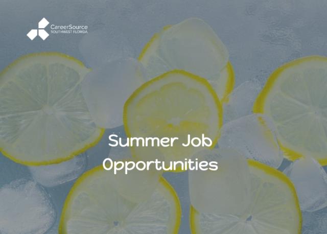 Click for Summer Job Opportunities